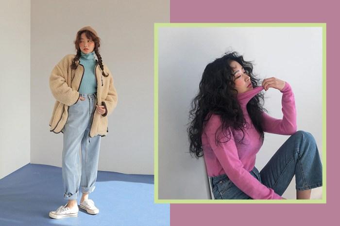 冬日的夾克無趣又沈重?學習韓國女生的「糖果色內襯」穿搭範本吧!