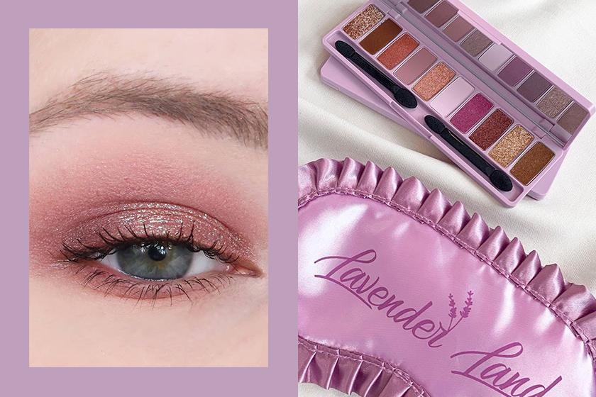 Lavender Color Etude House Eyeshadow Palette Korean Girl