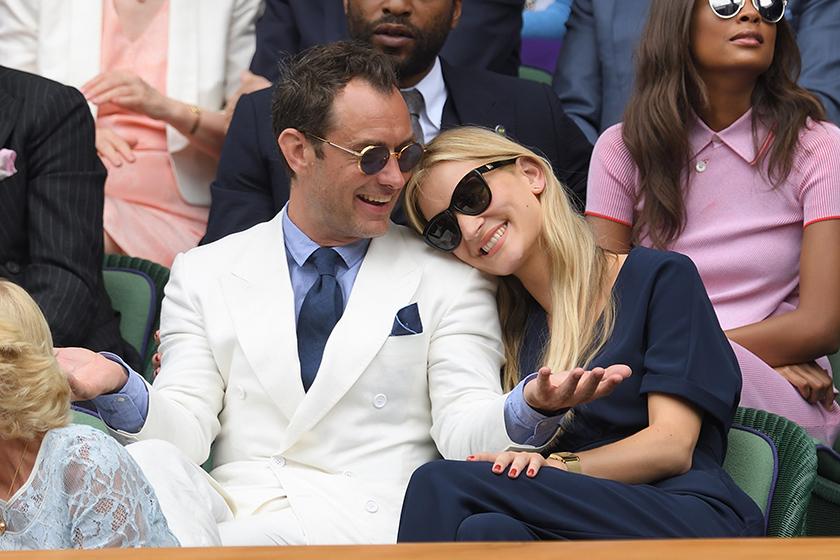 Celebrities Couple Jude Law Dumbledore Engaged Phillipa Coan