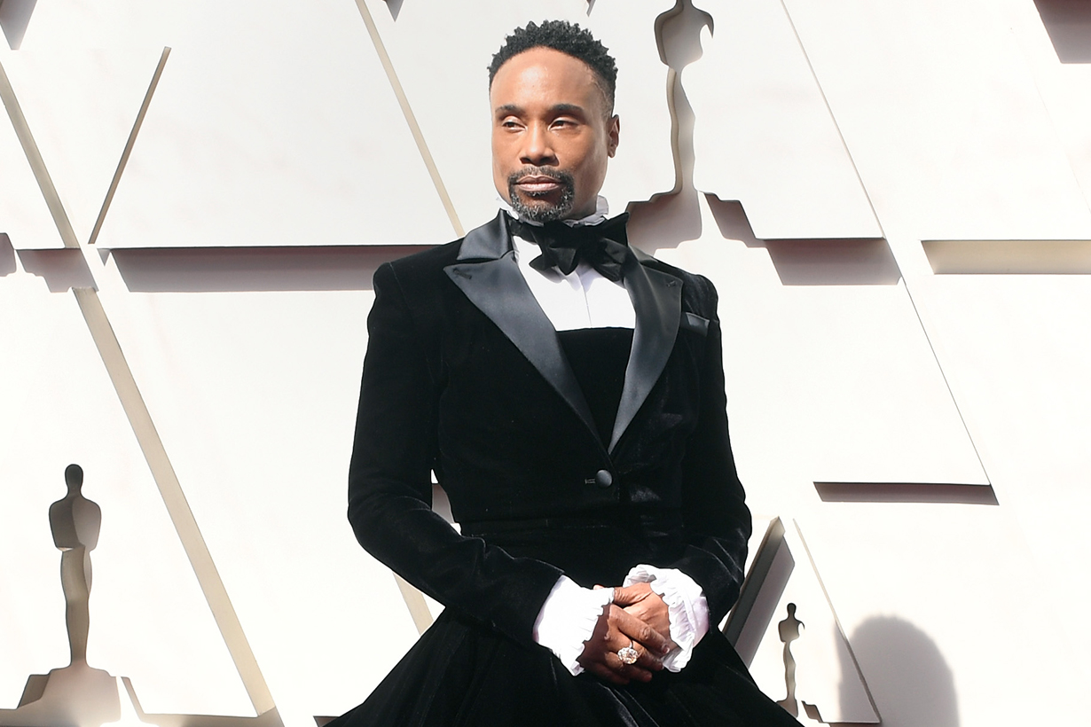 Billy Porter slays in a tuxedo dress on the Oscars Red carpet