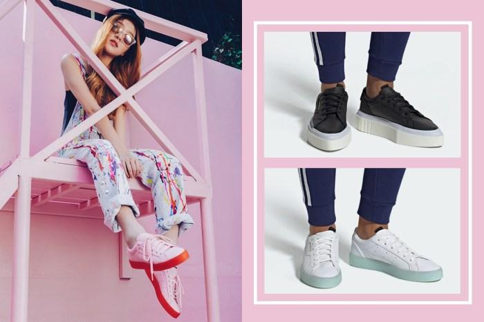 荷包燒著了!adidas Originals 推出可愛粉紅配色的 Sleek 波鞋,果凍底設計更惹人喜愛!