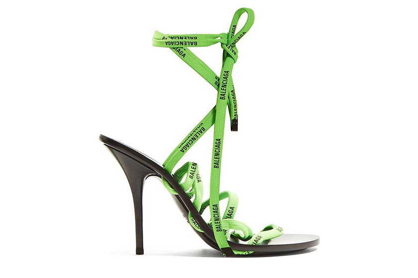 Balenciaga Logo-Laced Wrap-Around Sandals