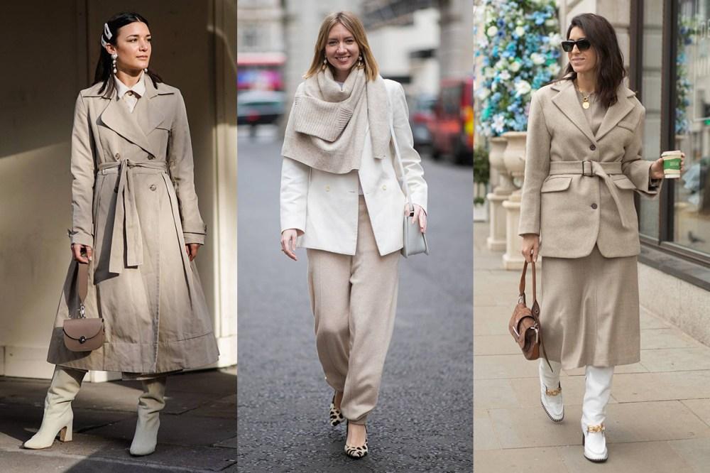 London Fashion Week 2019 Beige Head To Toe Street Style