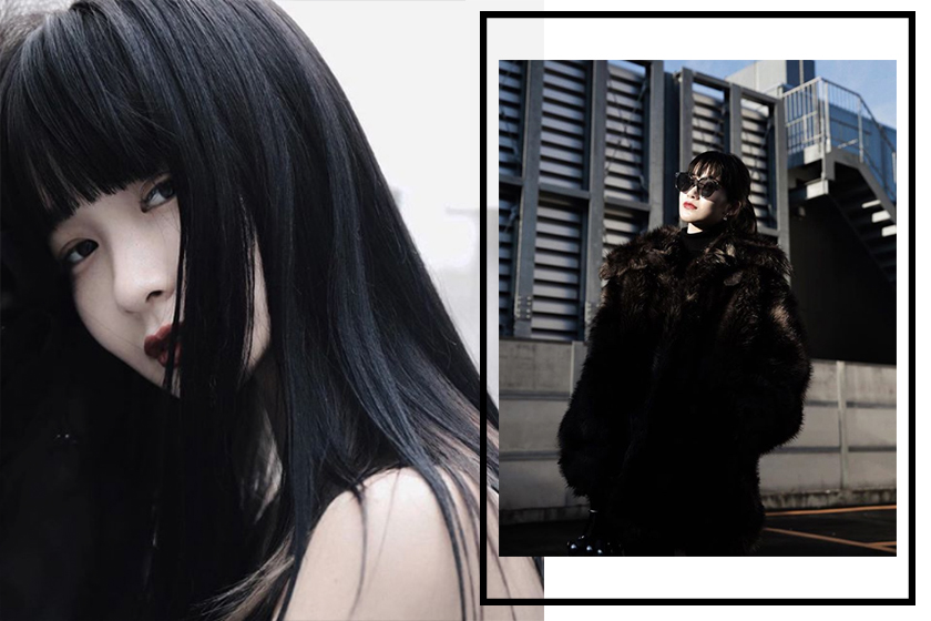 black styling Japanese girl Kurumi instagram