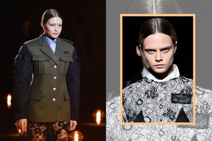 #MFW:消失的眉毛!Prada 時裝騷名模驚現「無眉妝」