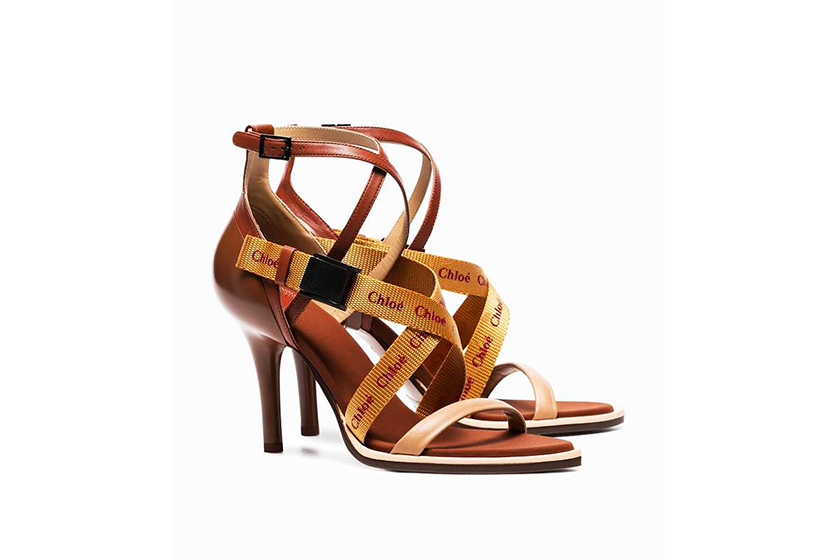 Chloé Brown Veronica 90 Leather Sandals