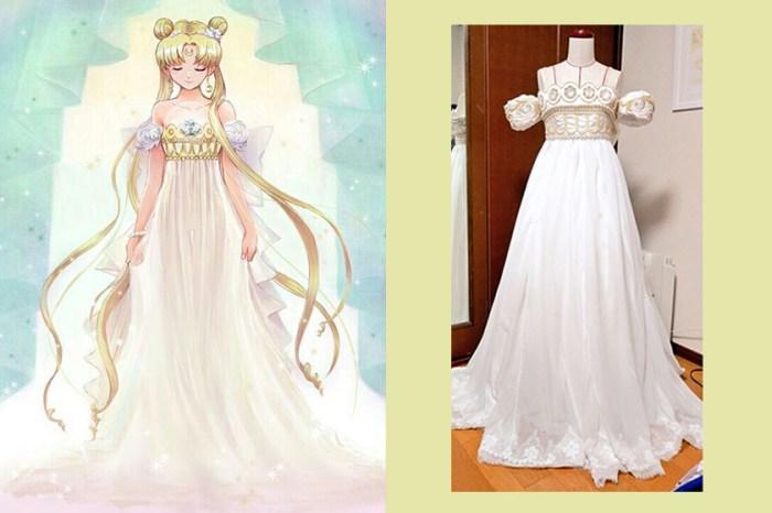 感動無數網友:這位日本女生設計《美少女戰士》婚紗,作為閨蜜的結婚禮物!