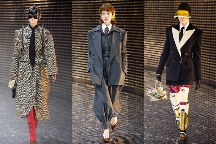 #MFW: Gucci 上演華麗狂妄的復古面具派對,開啟一場無性別的跨世紀對話!
