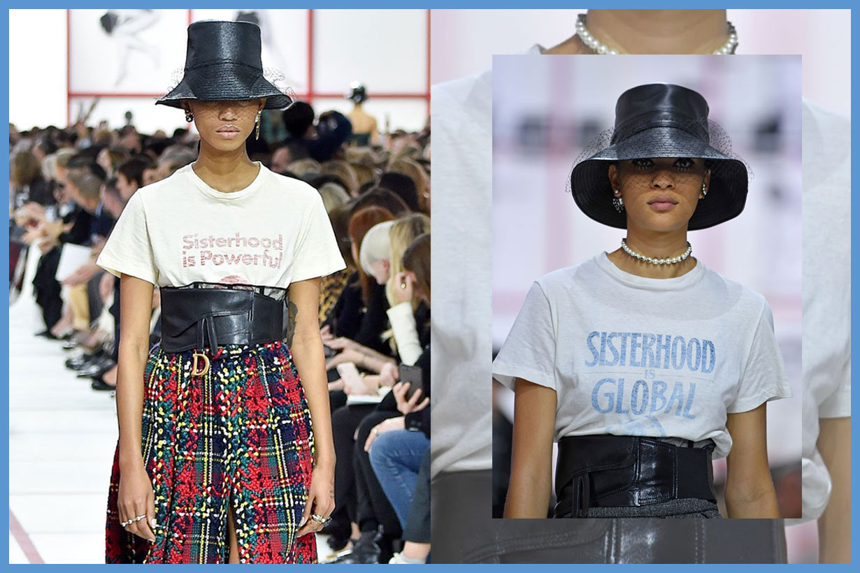 Dior introduce the new feminist slogan t-shirt