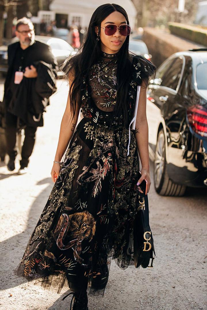 Dior Saddle Bag Street Style From Paris Fashion Week
