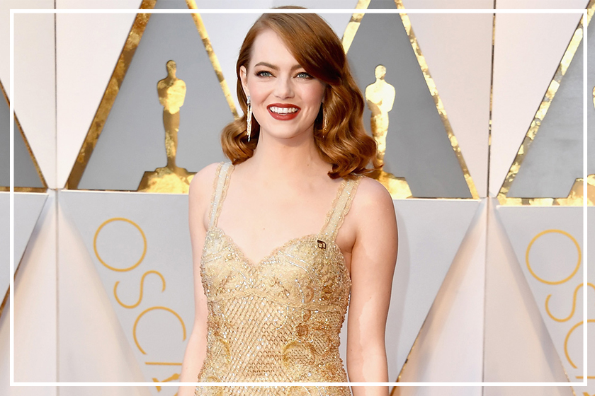 emma stone skin care routine before red carpet