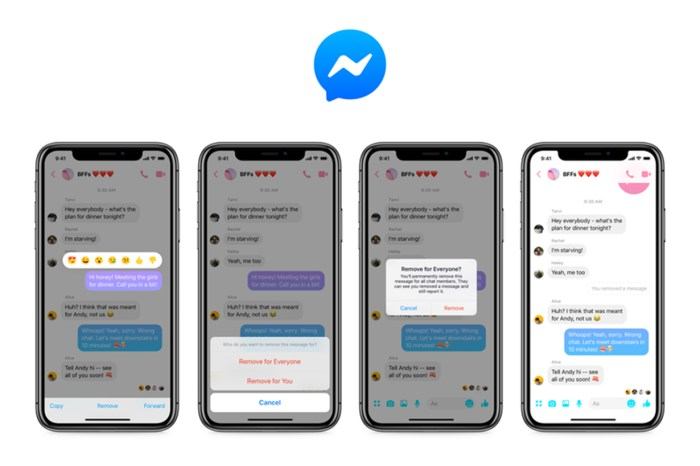 FB Messenger 終於推出撤回訊息功能,但別忘了有一定時間限制!