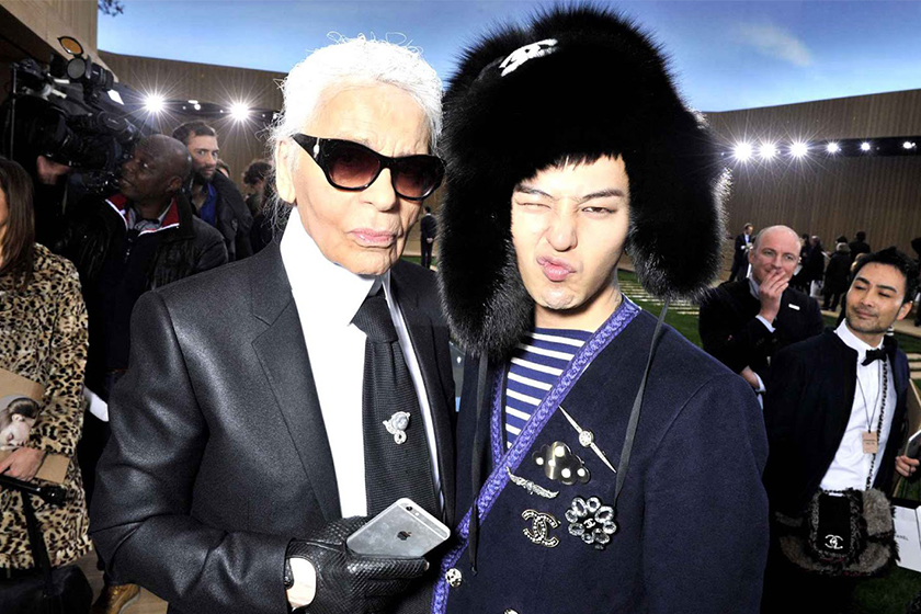 G Dragon Instagram Karl Legerfeld
