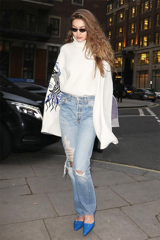 gigi-hadid- CHARLES & KEITH shoes LFW