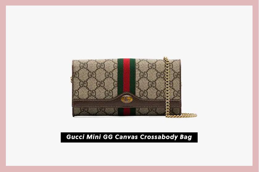 Gucci Mini GG Canvas Crossabody Bag