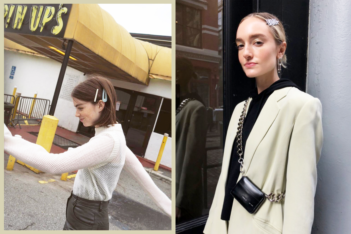 Hair Clip Bobby Pins Headbands Hairstyles Hair styling New York Fashion week Street style fashionistas street snaps instagram hit hairstyles trend