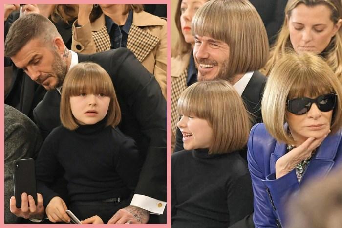 小七 Harper 新髮型出席媽媽的時裝秀,卻意外和 Anna 撞髮型成現場焦點!