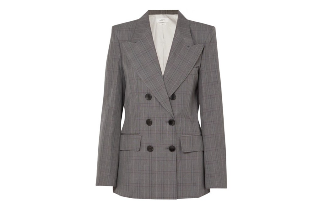 Isabel Marant Étoile Iliane Checked Cotton-Blend Blazer