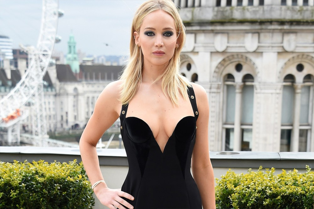 Jennifer Lawrence Versace Gown