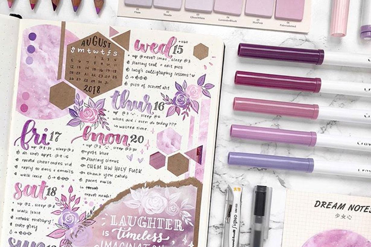 Bullet journal calligraphy 2019