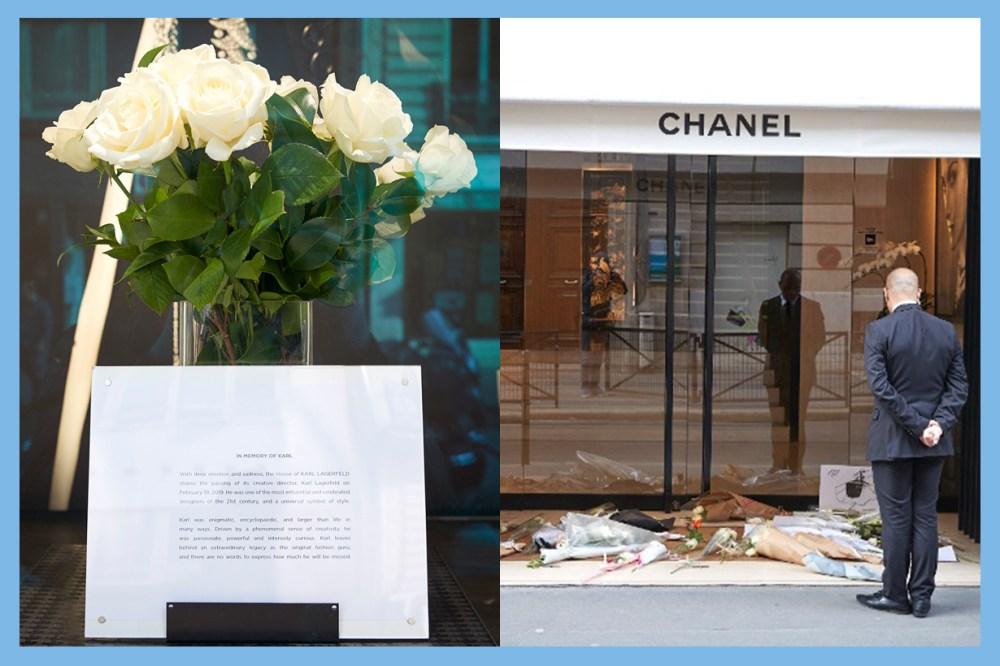 Karl Lagerfeld Funeral Cremated in Nanterre  Anna Wintour Andrea Casiraghi Princess of Hanover  Choupette Jacques de Bascher Hudson Kroenig Brad Kroenig white Roses display