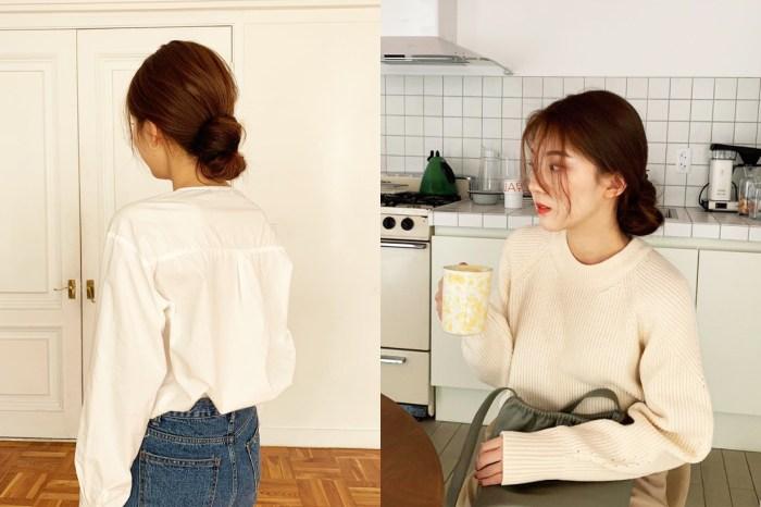 1 條橡筋、2 個髮夾:2 種方法讓你 15 秒綁出韓式隨性低髮髻!