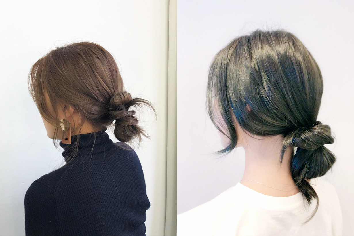 Korean Girls Low Hair Bun Hairstyles hair styling tips Instagram Hit