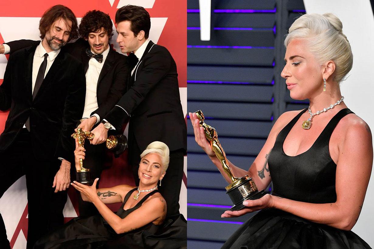 Lady Gaga Oscar winning reaction