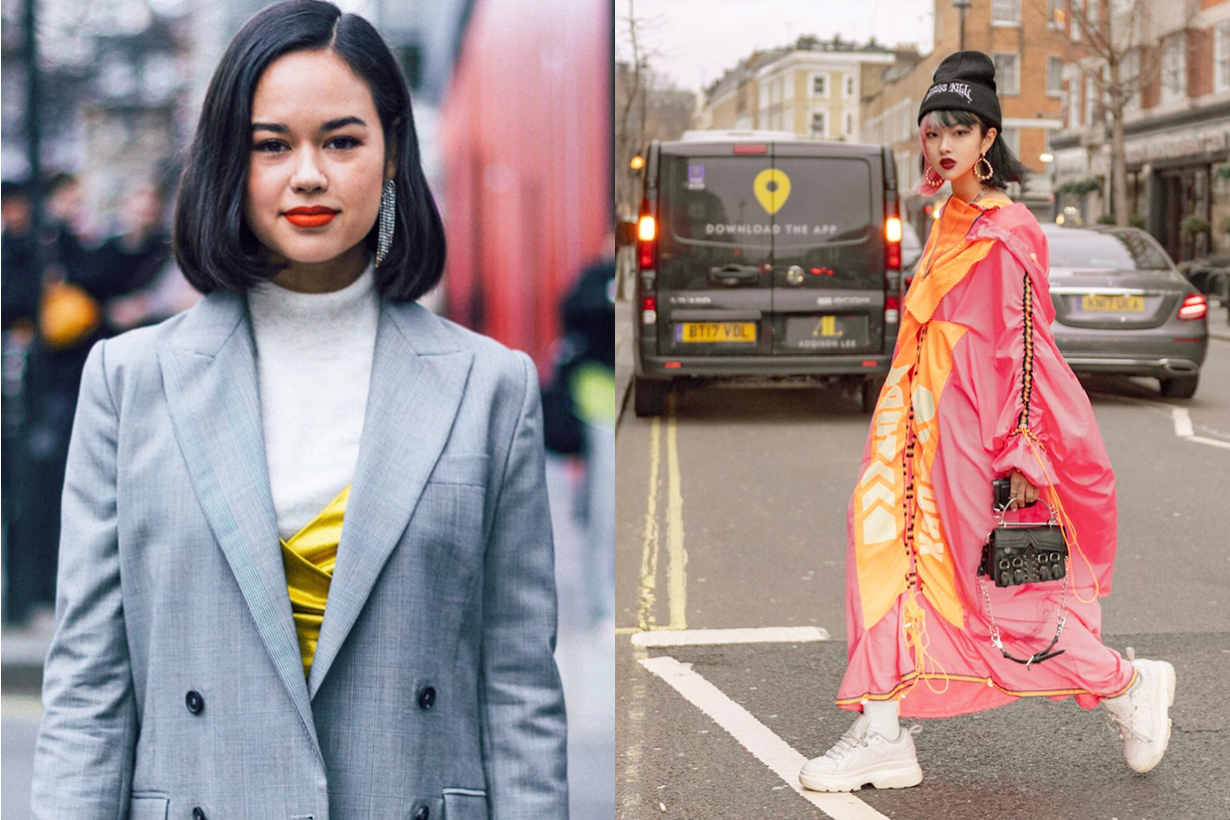 London Fashion Week 2019  Fall Winter 2019 FW19 LFW Street Styles Streetsnaps Lipstick colour trend makeup beauty trend