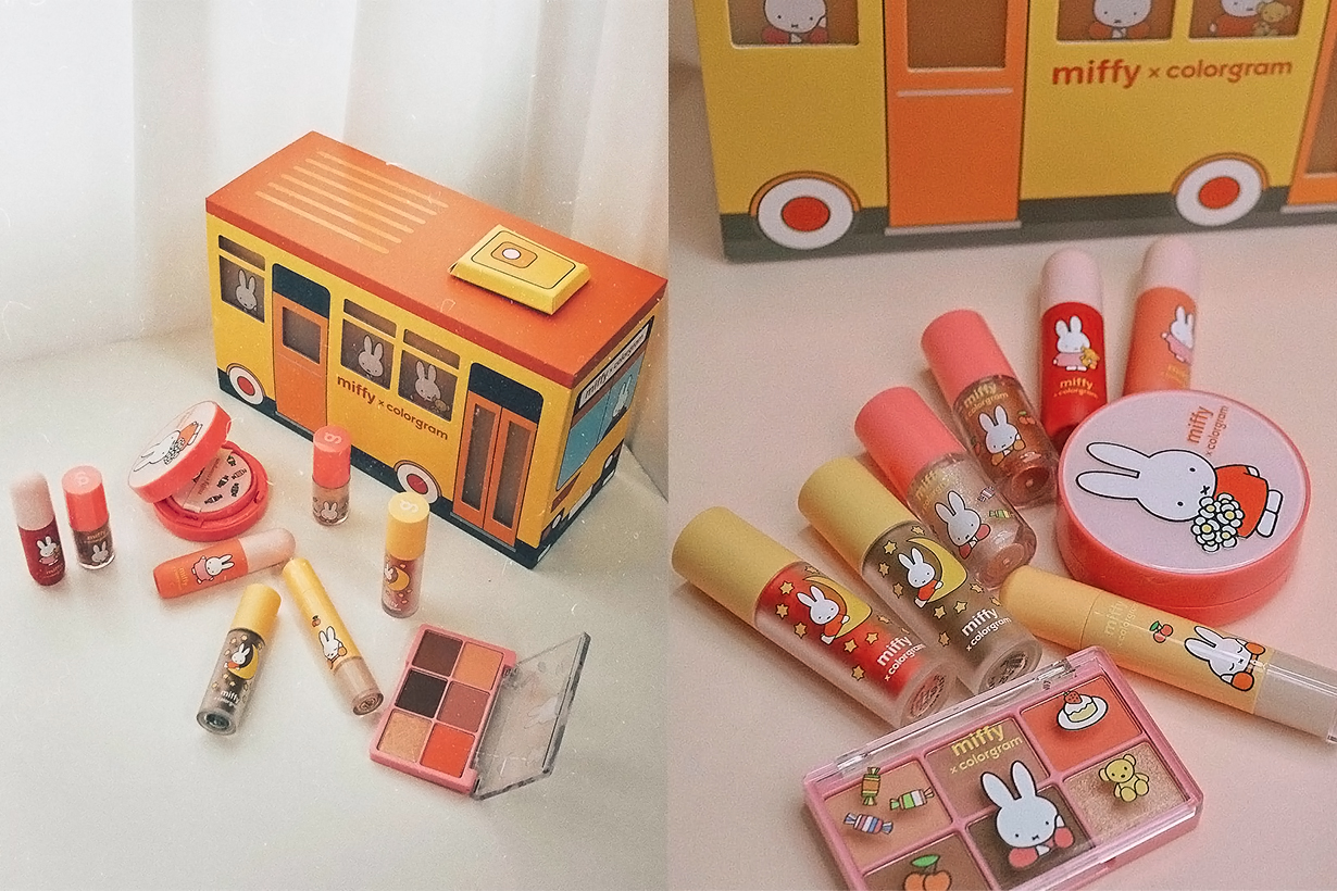 Miffy Colorgram Olive Young Crossover Collection Cosmetics Korean Makeup Lipsticks Eyeshadows Lip Tints Concealer Loose Powder