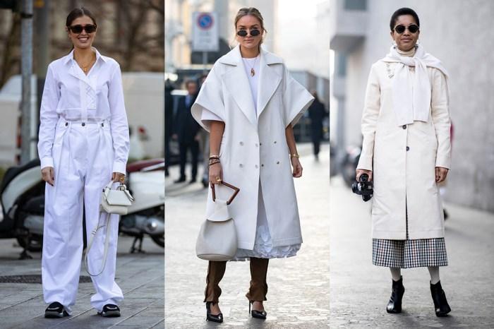 #MFW 街拍:永不過時的全白穿搭 20+,崇尚簡潔的女生快收藏!