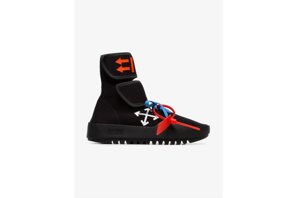Off-White Black, Red And Blue CST-001 High-Top Sneakers