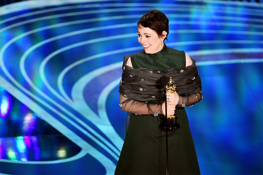 olivia-colmans-oscar-2019 prada-winning-dress