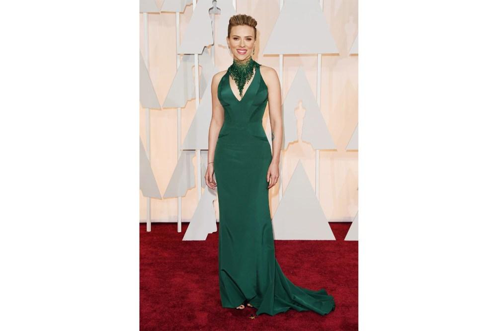 Scarlett Johansson Versace dress