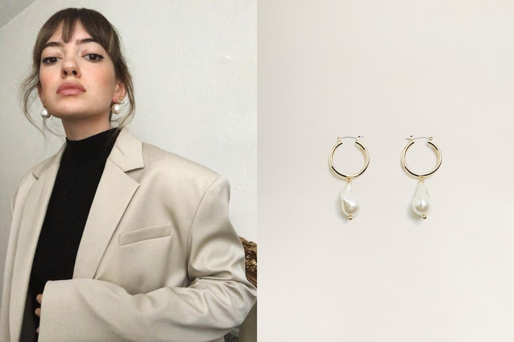 Mango Pearl Hoop Earrings