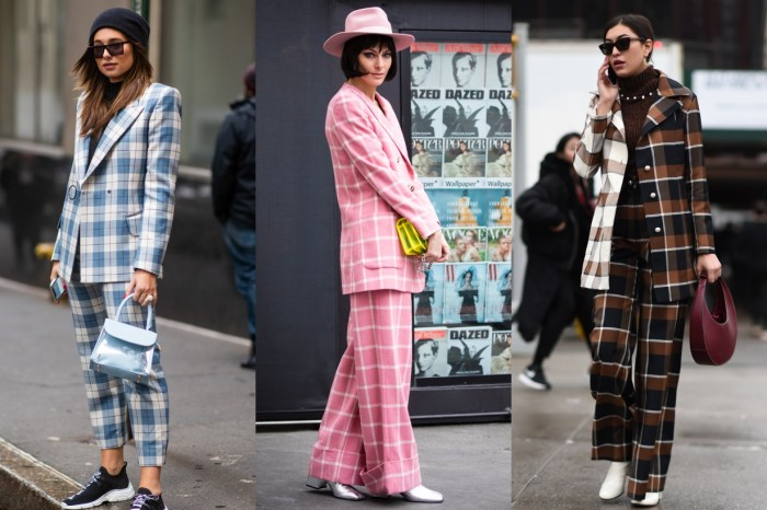 說服你穿上「格仔西裝」!15+ 街拍示範,襯出復古風以外的時尚質感
