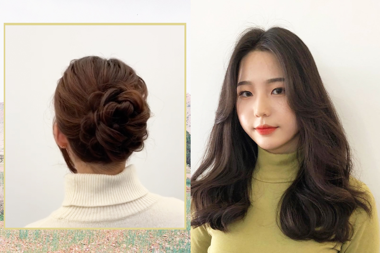 Hair Bun Hairstyles Hair styling Korean Girls Braiding Hair Ponytails Hair Volume Double Up Hair scrunchies Rose Hair Bun