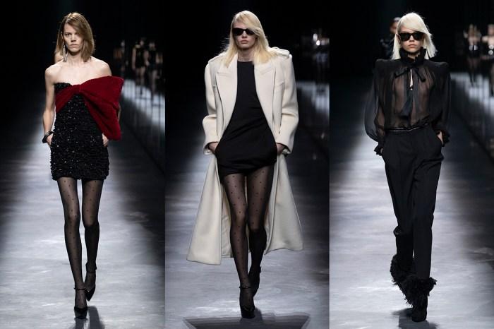 #PFW:重遇 Saint Laurent 的經典繆斯,巴黎中性美的關鍵是墊肩大衣!