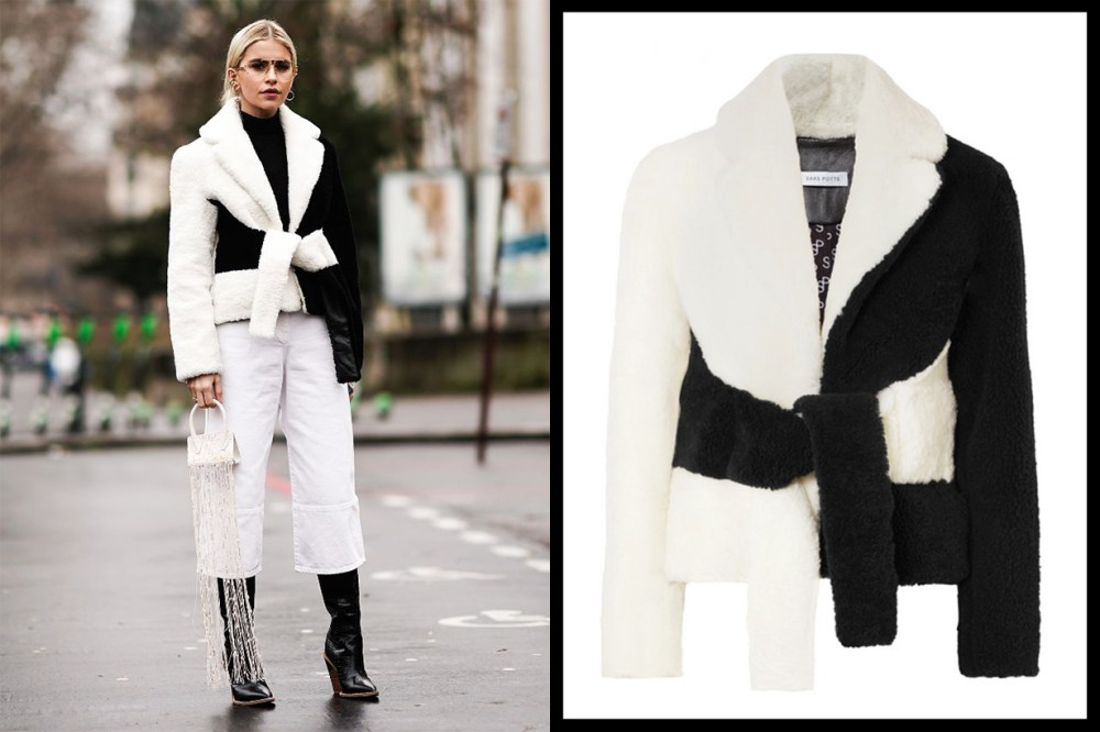 Black and White Jacket Street Style