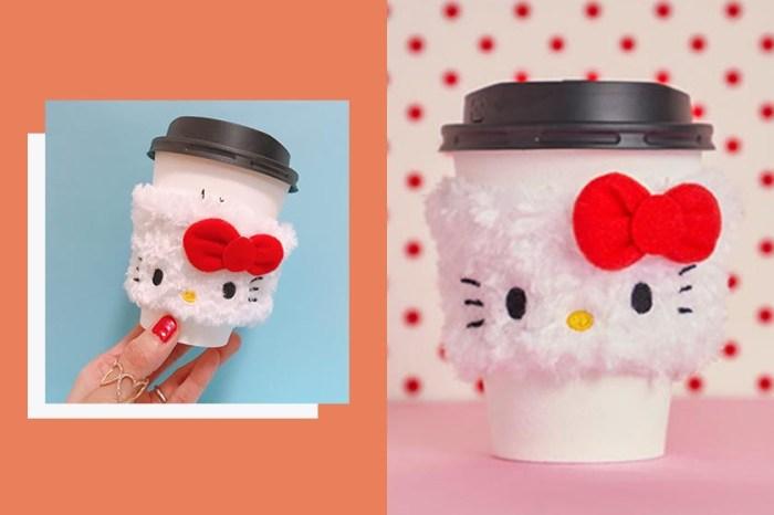日本近期最夯:這款超激萌「Hello Kitty 杯套」,讓滿滿少女心爆發了!