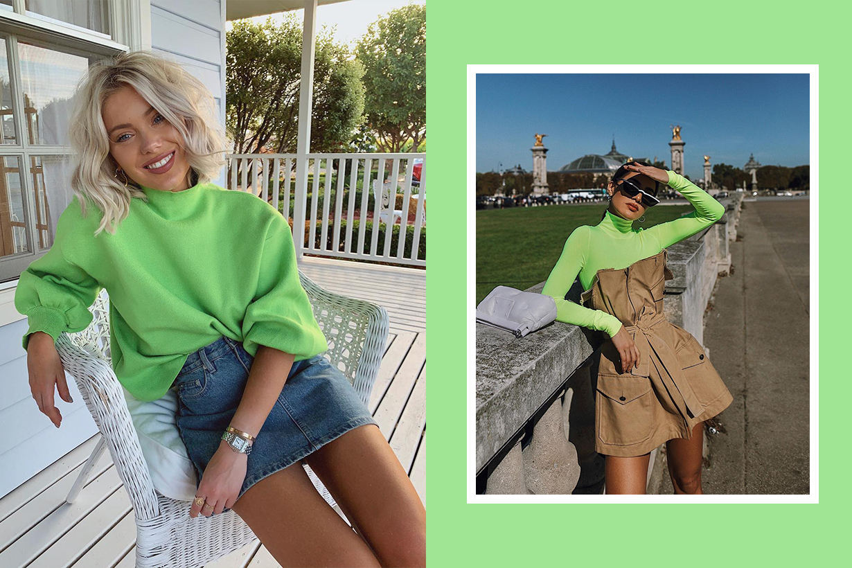 Slime Green on Trend now!