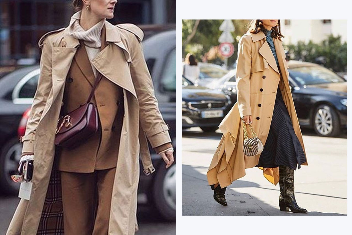trench coat street style aw2019