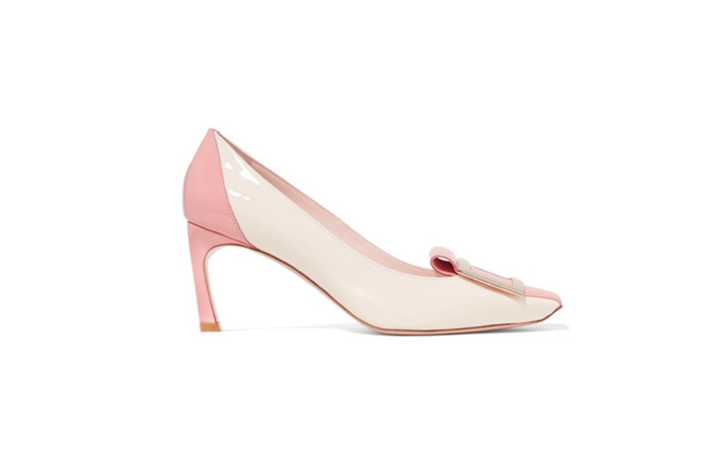 Trompette Tongue Two-Tone Patent-Leather Pumps