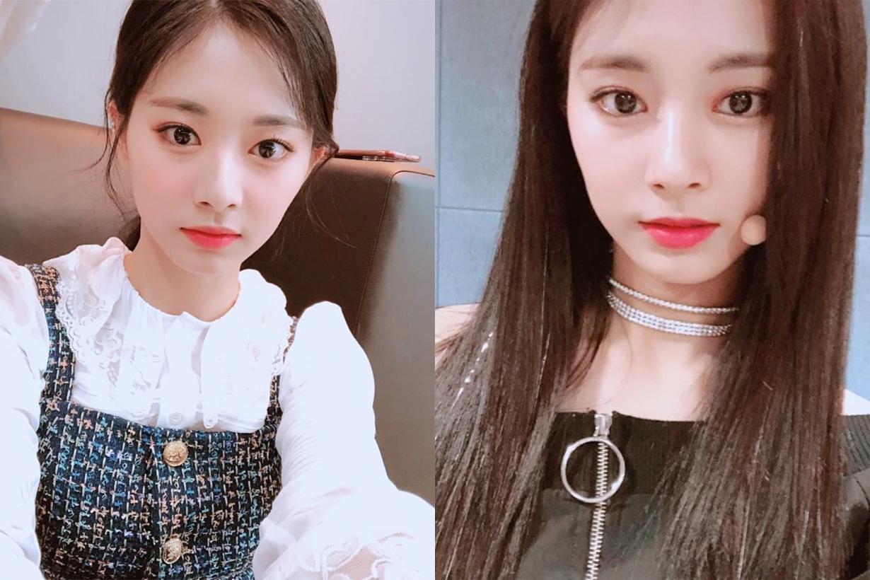 Twice chou Tzuyu Pantone 2019 living coral hair colour new hairstyles brownish orange k pop korean idols celebrities singers