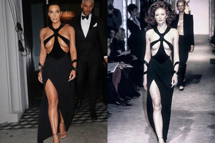 Kim Kardashian 竟然穿上 20 年前的高訂服,依舊展現她的大膽性感作風!