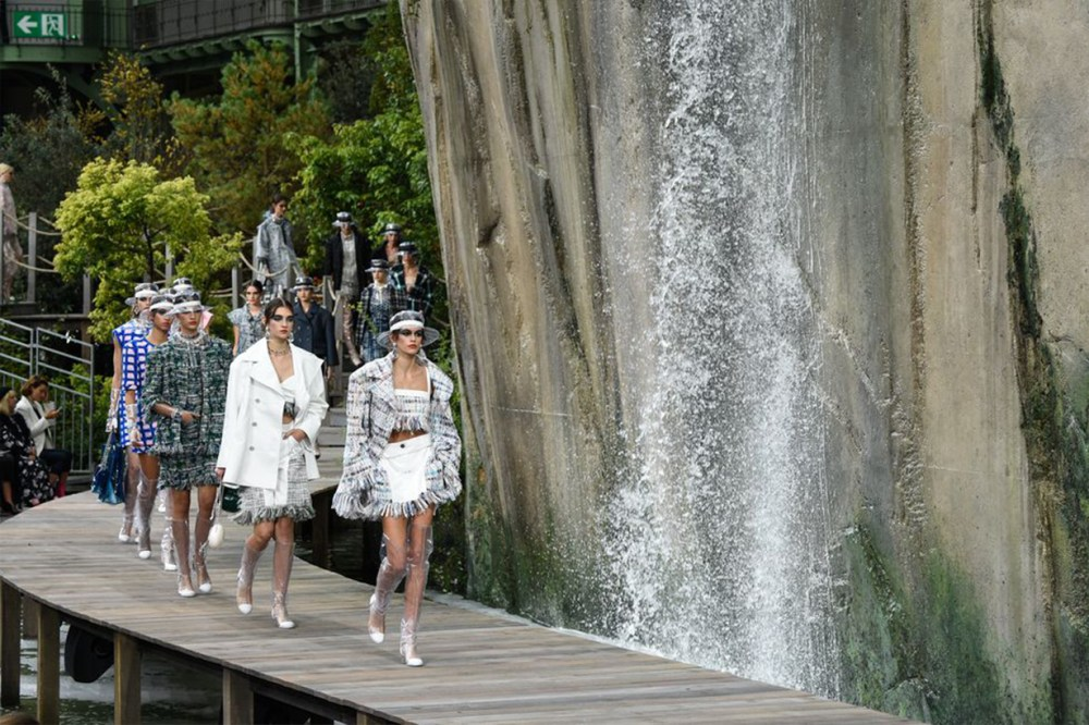 Water Fall Chanel Runway
