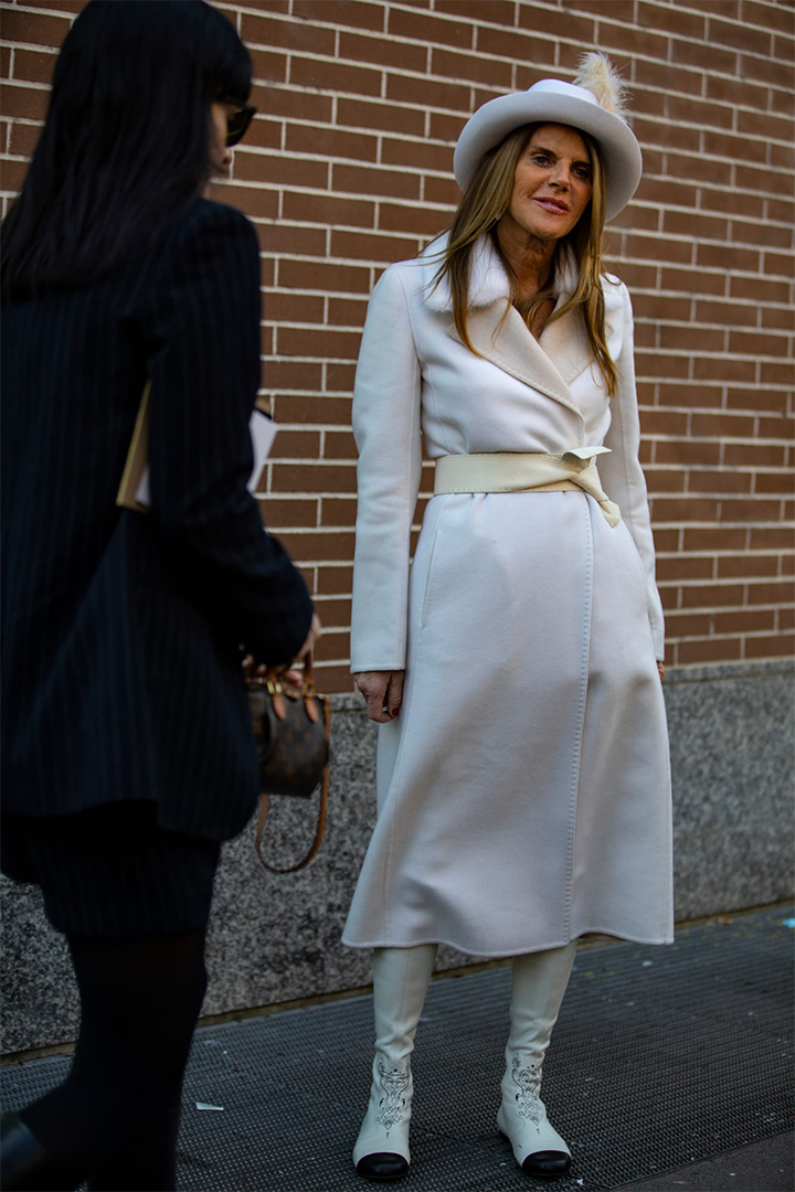 Milan Fashion Week 2019 Monochromatic White Outfits Street Style
