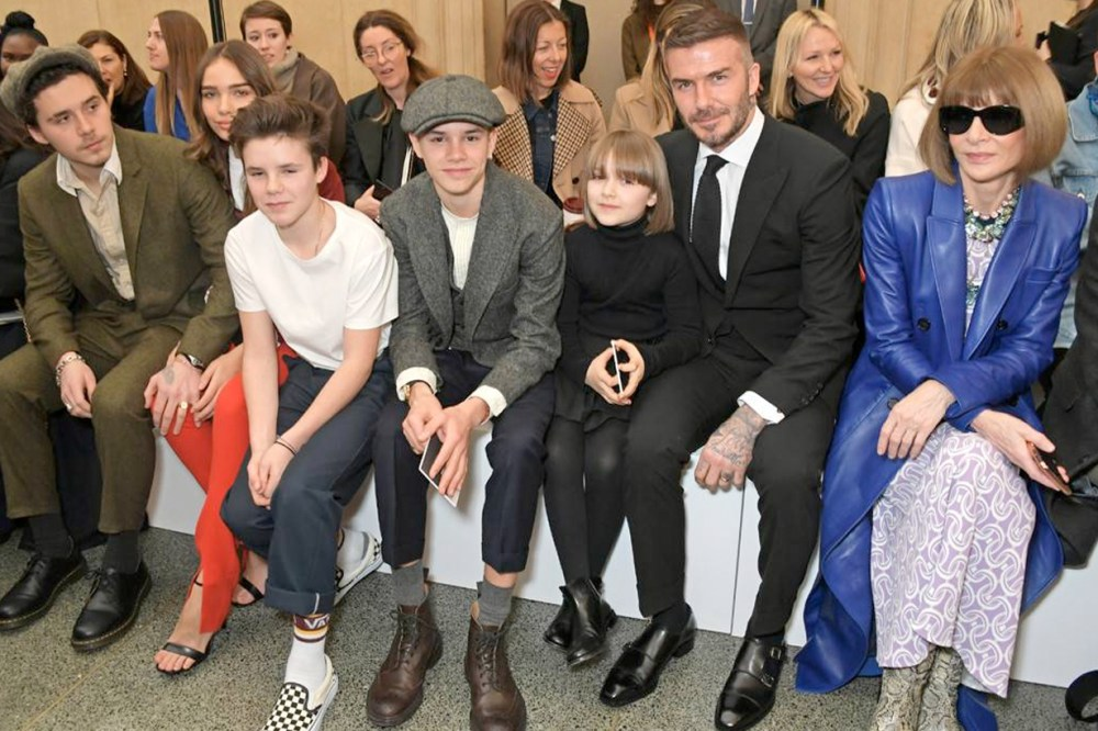 harper beckham anna wintour bob hairstyle victoria london fashion week