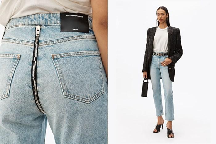 瞬間引熱議:Alexander Wang 這條最新牛仔褲,「拉鏈」設計竟然在臀部!