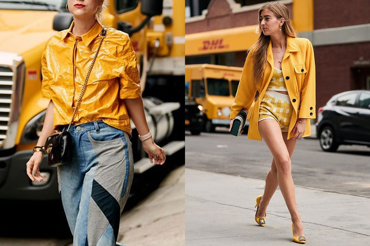 Yellow outfits style street fashion 2019